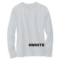Kaos Baju Polos Lengan Panjang Pria Wanita Cewek Cowok Putih