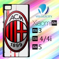 Custom Casing HP Xiaomi Mi3. Mi4, Mi4i, Mi5 ac milan logo Z3731 Hardca