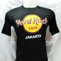 Kaos Hard Rock Cafe Jakarta Hitam Bahan Katun Halus Dan Lembut