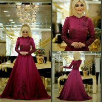 Ip19585 Hijab marrisa maroon