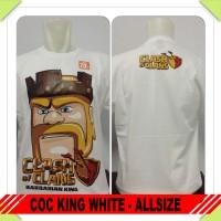 kaos combed coc clash of clans barbarian king baju distro tshirt