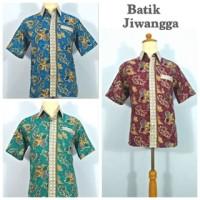 Baju Kemeja Hem Batik Pria Terbaru, Bahan Katun Halus, Untuk Ke Kantor