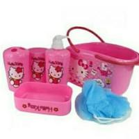 Keranjang Alat Mandi (Bath Set) Anak Karakter Hello Kitty - TUPPERWARE