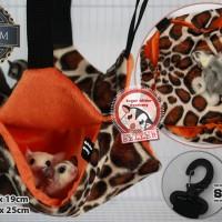 harga Sugar Glider Academy Hanging Cage Pouch Premium Orange Tiger Tokopedia.com