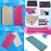 harga NILLKIN SPARKLE Leather Case Sony Xperia M4 AQUA Flip Cover / Casing Tokopedia.com