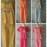 Stelan Baju Tidur Pendek Celana Panjang Kaos / Daster / Piyama / Baju Wanita