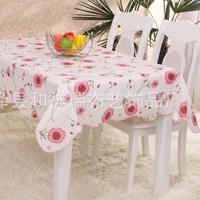 Taplak Meja Motif Sunflower Pink, Pelindung Meja, Dekorasi, Rumah Tang