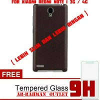 harga XIAOMI REDMI NOTE 1 3G 4G LEATHER ARMOR BACK CASE COVER DOOR KULIT Tokopedia.com
