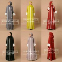 gamis HARPER BY QUEENALABELS (DRESS + PASHMINA)