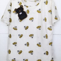 kaos bordir timbul kotif huruf pakaian wanita import korea fashion