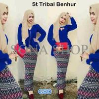 tribal benhur/blus rok pasmina/stelan baju hijab/pakaian muslim  794G