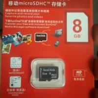 Micro sd Sandisk 8 GB memory card mmc hp kartu memori