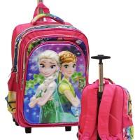 harga Tas Trolley Anak SD Frozen Daun 5D Timbul Gagang Samurai Stainless Tokopedia.com