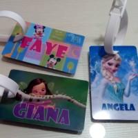 Jual custom bag tag / luggage tag / id card / Label Tas / Bag Label Murah