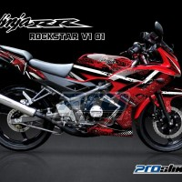 STRIPING NINJA RR 150 New Full Body ROCKSTAR (Motor Merah)