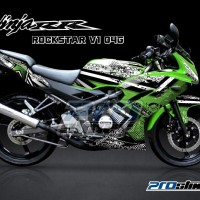 STRIPING NINJA RR 150 New Full Body ROCKSTAR (Motor Hijau)