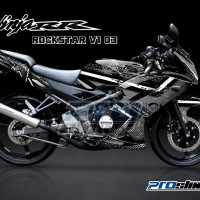 STRIPING NINJA RR 150 New Full Body ROCKSTAR V1 (Motor Hitam)