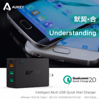 harga ORIGINAL Quick Charge 2.0 AUKEY 3 Port USB Charger with USB Cable Tokopedia.com