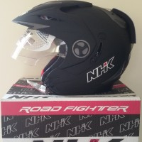 harga Helm Nhk Aviator Solid Black Doff Tokopedia.com