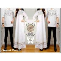 Jual ST Elegant couple putih / couple muslim / gamis Murah