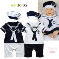 harga BCW 0003 Romper Baby Sailor White 2in1 GRATIS Topi Tokopedia.com