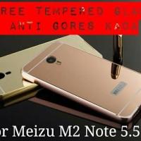 > BONUS ANTI GORES KACA Casing HP Meizu M2 Note Layar 5.5' Luxury