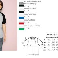 Jual kaos polos GILDAN Raglan 76500 - Premium Cotton Murah