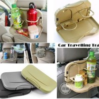 Travel Dining Tray - Meja portable mobil / bottle can holder / Makan