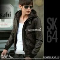Jaket Semi Kulit Pria Hoodie / Kupluk Korean Fashion