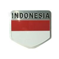 Jual Emblem Mobil Plat Indonesia Merah Putih Aluminium Murah