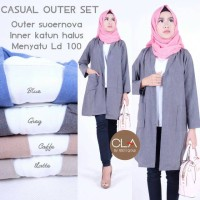 SUPPLIER BAJU HIJAB : CASUAL OUTER SET BY CLA