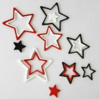 Jual 3D wall star hiasan dinding dari kayu Murah