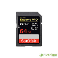 Sandisk SDXC Extreme Pro 64GB Class 10 UHS-1 95MB / S