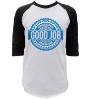 Jual Kaos Raglan  Good Job Tshirt Distro Custom clothing Murah