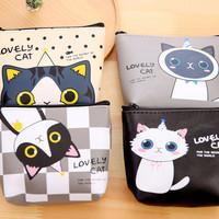 dompet storage kartun kucing lucu/dompet koin - khm128