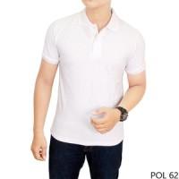 Jual Kaos Kerah Putih Polos bahan  Polo/lacoste Murah