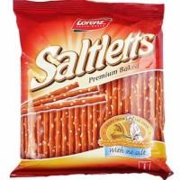 Lorenz Saltletts Premium Baked Brezel Pretzel with Sea Salt Snack Stik