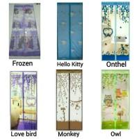 Jual Tirai Magnet / Tirai Nyamuk HK / Onthel / Love bird / Monkey / Owl Murah