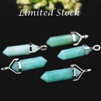 Jual Amazonite Stone Lucky Point Pendant Kalung Choker Murah