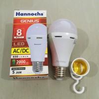 Lampu LED hannochs genius emergency / magic ac dc 8w 8 watt