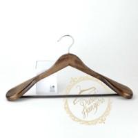 harga hanger kayu jas coklat premium Tokopedia.com