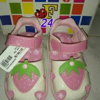 sepatu sendal bayi perempuan baby shoes pink merk fladeo murah