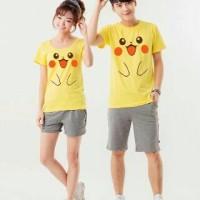 Jual Kaos couple Pokemon Yellow Murah