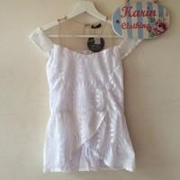Harga atasan baju blouse wanita tulle sabrina lace blouse  b6fa4989e4