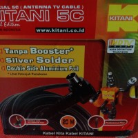 harga Kabel antena TV tanpa booster Kitani 5C, panjang 20M Merk KITANI Tokopedia.com