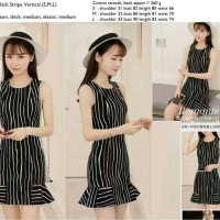 Black Stripe Vertical Dress - 24598