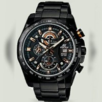 JAM TANGAN PRIA CASIO EDIFICE ORIGINAL BM FULL BLACK GOLD