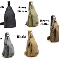 Tas Selempang Pria Slempang Kanvas Murah / Men Sling Shoulder Bag