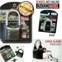 Gembok Alarm Merk KINBAR | Gembok Alarm SEPEDA / GEMBOK MOTOR
