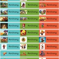 COC - Sticker Label Nama Karakter